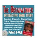 The Breadwinner (Deborah Ellis) Book Novel Study and Graph