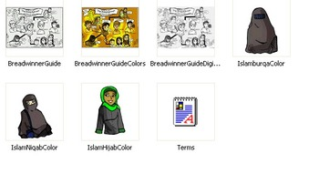 """The Breadwinner"" Visual Character Map and 3 Piece Islam/Hijab Clip-Art"
