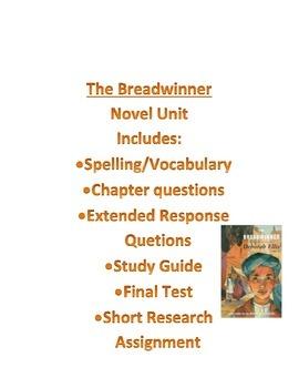 The Breadwinner by Deborah Ellis Novel Packet