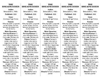The Breadwinner ed. of Bookmarks Plus—Fun Freebie & Handy Little Reading Aid!