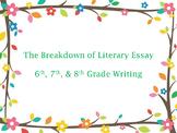Common Core (ELA) Literary Essay Writing Breakdown