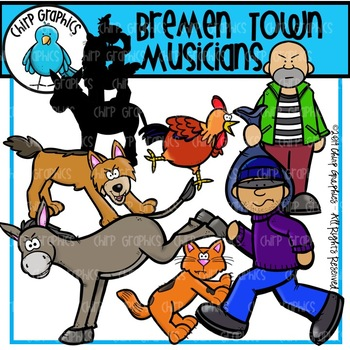 The Bremen Town Musicians Clip Art Set - Chirp Graphics