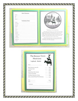 The Bremen Town Musicians Lapbook and Book Report
