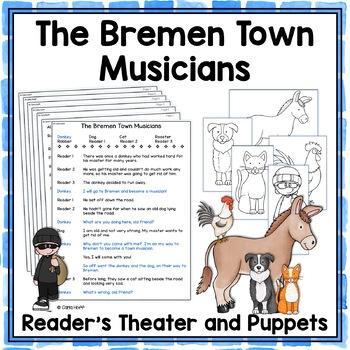 The Bremen Town Musicians Reader's Theater & Puppet Fun