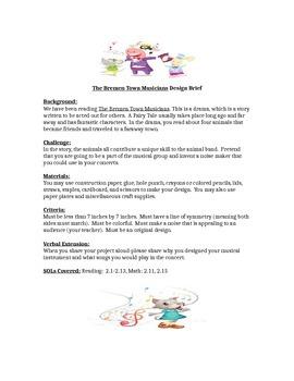 The Brementown Musicians Children's Engineering STEM Design Brief