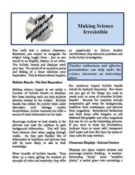 Brilliance Pages - Making Science Irresistible; Yuck! Scie