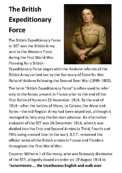 The British Expeditionary Force Handout