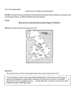 The British Industrial Revolution - Essay structure excersize