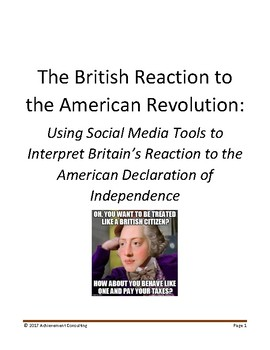 The British Reaction to the Declaration of Independence