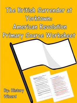 The British Surrender at Yorktown: American Revolution Pri