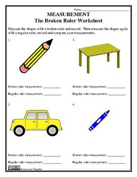 Measurement - The Broken Ruler Worksheet - FREE