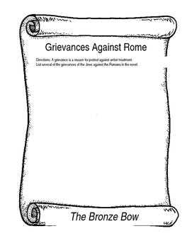 The Bronze Bow- Grievances Against Rome