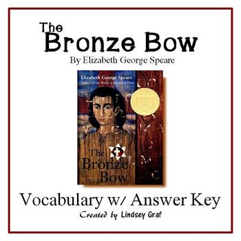 The Bronze Bow Vocabulary Activities with Answer Key