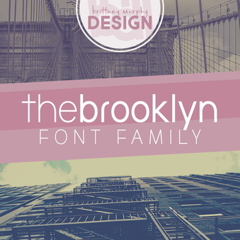 The Brooklyn Font Family for Commercial Use