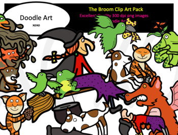 The Broom Has Room Clipart Pack