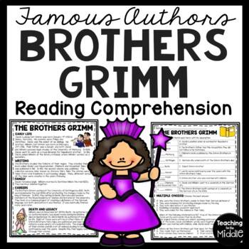 The Brothers Grimm Biography with matching questions fairy tales