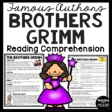 The Brothers Grimm Biography Reading Comprehension; Fairy Tales