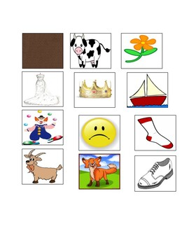 The Brown Cow Sound Game Picture Cards