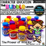 Character Education Lesson-Using Kind Words: Back to School Activity