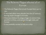 The Bubonic Plague  The Black Death