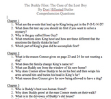 The Buddy Files: The Case of the Lost Boy - Comprehension Questions
