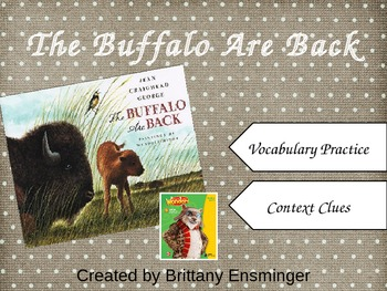 The Buffalo Are Back Vocabulary PowerPoint McGraw-Hill Wonders