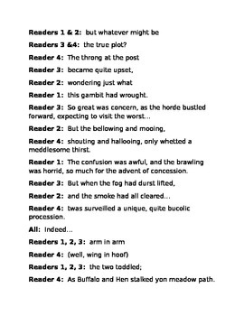 """""""The Buffalo and the Hen""""A Readers Theater Script [Theatre Scripts]"""