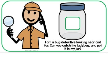 The Bug Detective--Adapted Book Vocabulary and Domino Game-- Autism, SLP