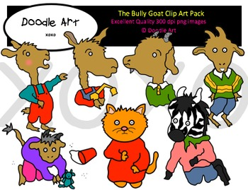 The Bully Goat Clipart Pack
