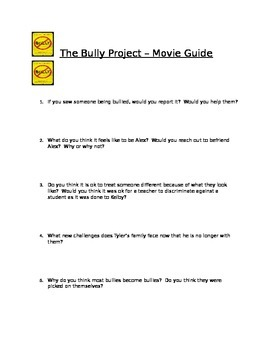 The Bully Project - Movie Reflection/Movie Guide