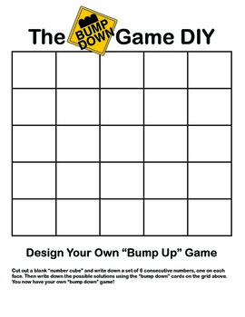 The Bump Game (& Variations) : Practice Counting On and Counting Down