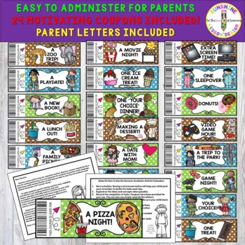 Summer Review Bundle, 3 Calendar Sets, K-5, Review They'll LOVE to do!