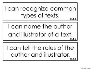 Common Core Kindergarten Math & ELA I Can Statements Bundle
