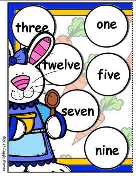 The Bunny Bunch Numbers File Folder Game