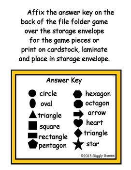 The Bunny Bunch Shapes File Folder Game