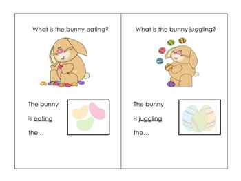The Bunny Hops: Interactive Book: Sentence building-Verbs-WH Questions