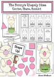 2D Shape Activities For Spring: Bunny Center, Booklet, Game & Graph