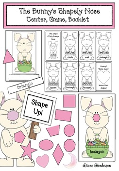 The Bunny's Shapely Nose: Center, Booklet, Game & Graph