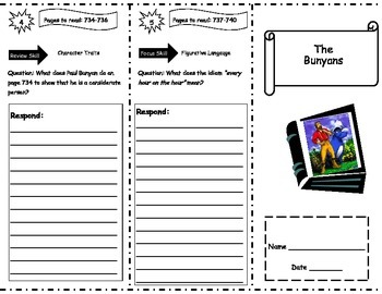 The Bunyans Storytown Comprehension Trifold