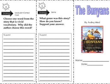 The Bunyans by Audrey Wood ~ Trifold