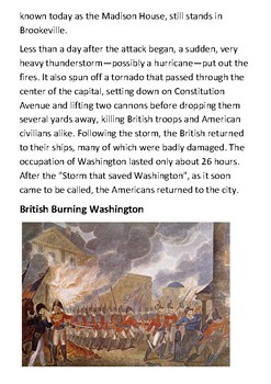 The Burning of Washington Handout