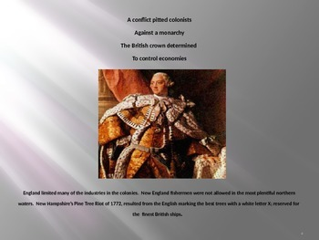 The Burning of the Gaspee in the American Revolution  Power Point poem