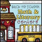 First Day of School / Back to School Math & Literacy Centers