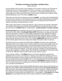The Business Cycle, Monetary & Fiscal Policy, & Political Debates 2 Page Reading