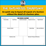 The Business Snapshot | Adapted Business Canvas Model for