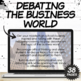 The Business World- Conversation Starters