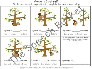 The Busy Little Squirrel - Speech and Language Activities [Book Companion]