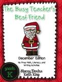 The Busy Teacher's Best Friend Christmas Edition KINDER