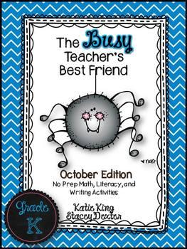 The Busy Teacher's Best Friend: October Edition KINDER