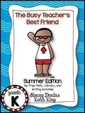 The Busy Teacher's Best Friend Summer Edition: KINDER